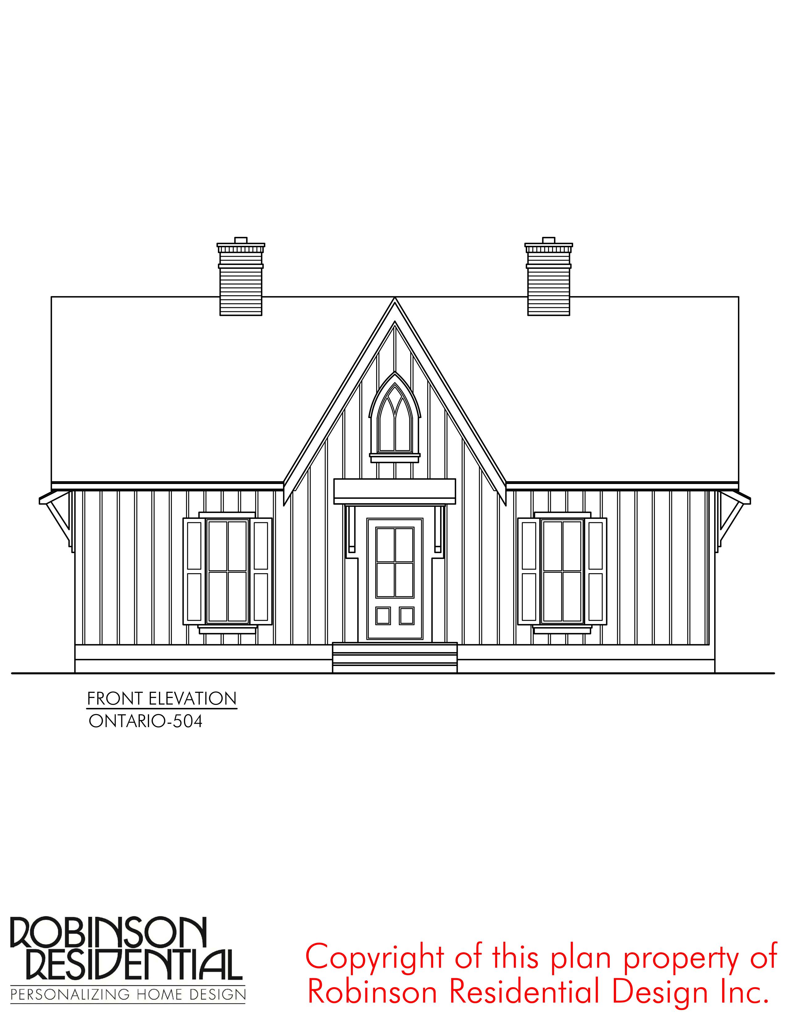 Ontario 504 Robinson Plans