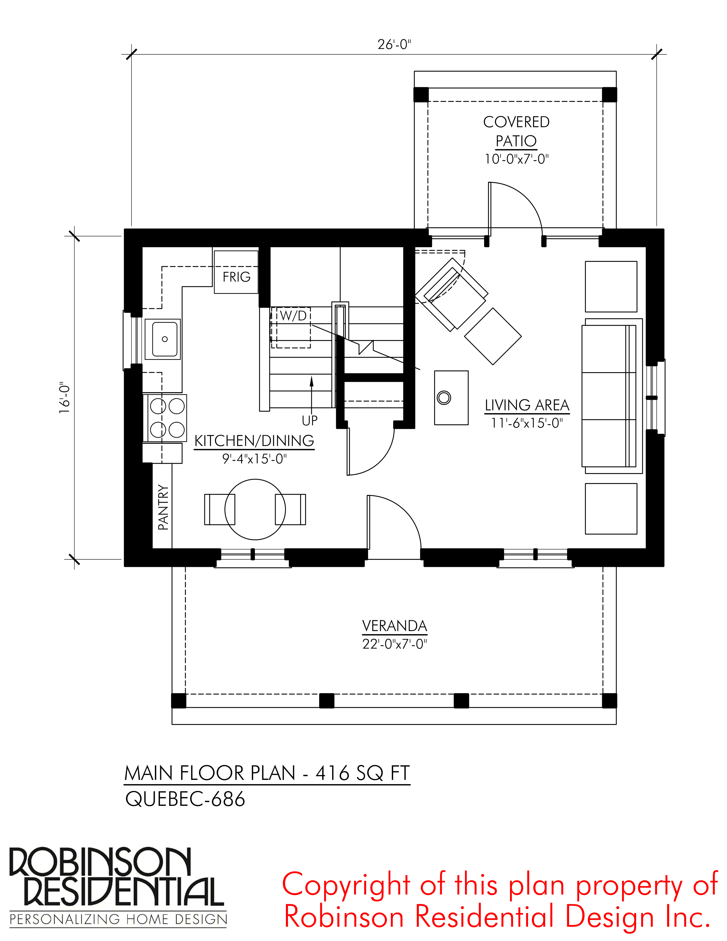 SMALL HOME PLANS QUEBEC 686 01 MAIN FLOOR PLAN - Download Small House Design With Floor Plan  Pictures