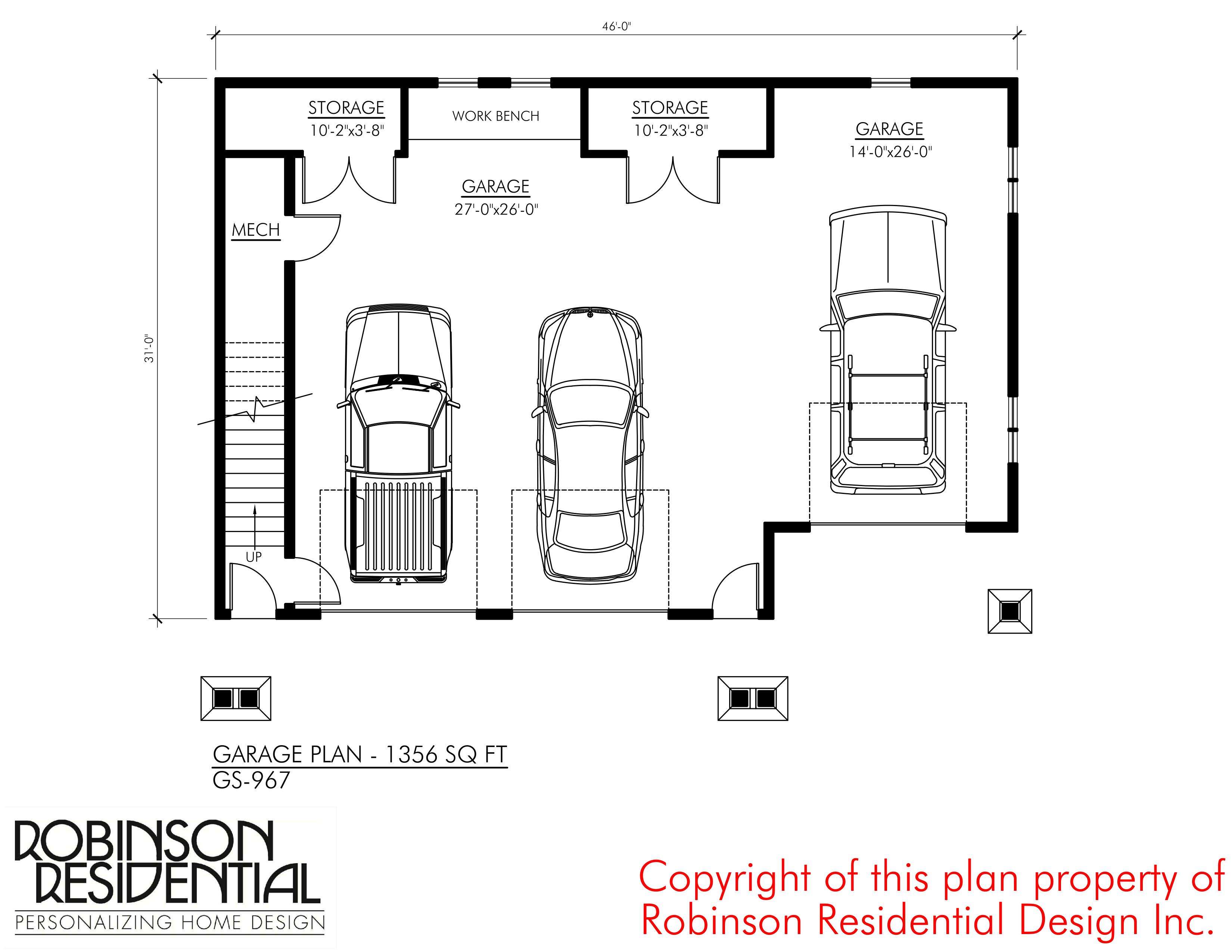 Craftsman gs 967 robinson plans for Craftsman garage planner