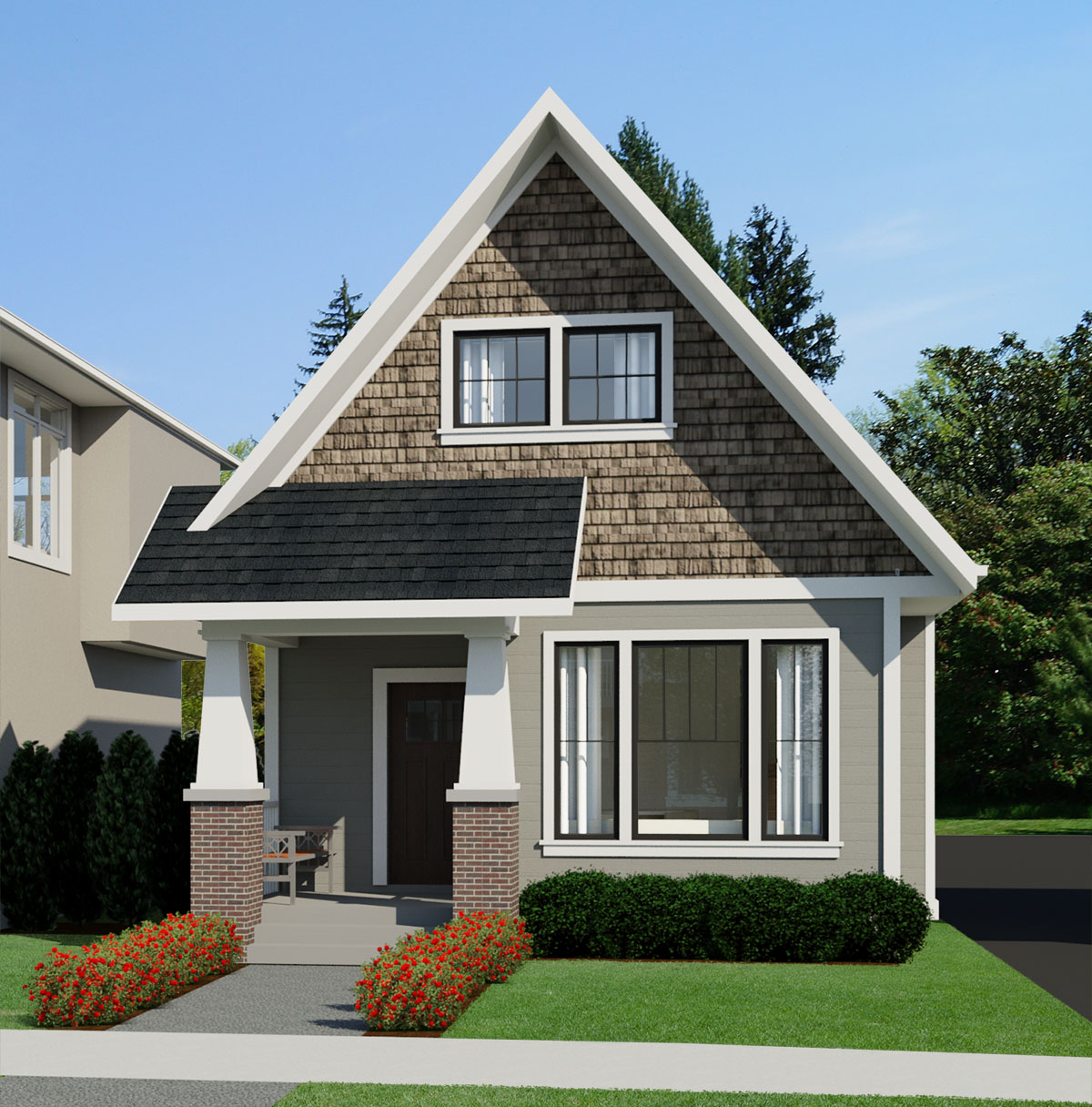 SMALL HOME PLANS - CRAFTSMAN WINDSOR-694