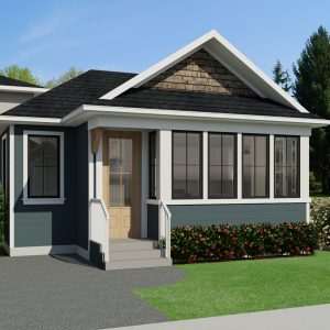 SMALL HOME PLANS - CRAFTSMAN FLORENCE-495