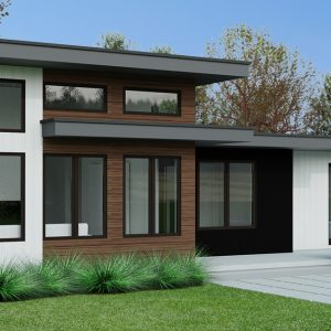 SMALL HOME PLANS - CASCADE-1070 - FRONT
