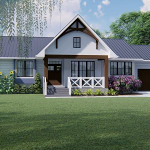 MODERN FARMHOUSE PLANS - PRELUDE-1718_Front View