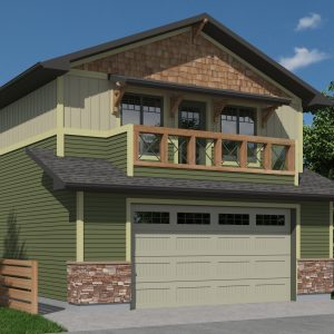 CRAFTSMAN GARAGE STUDIO PLAN - ATHABASCA