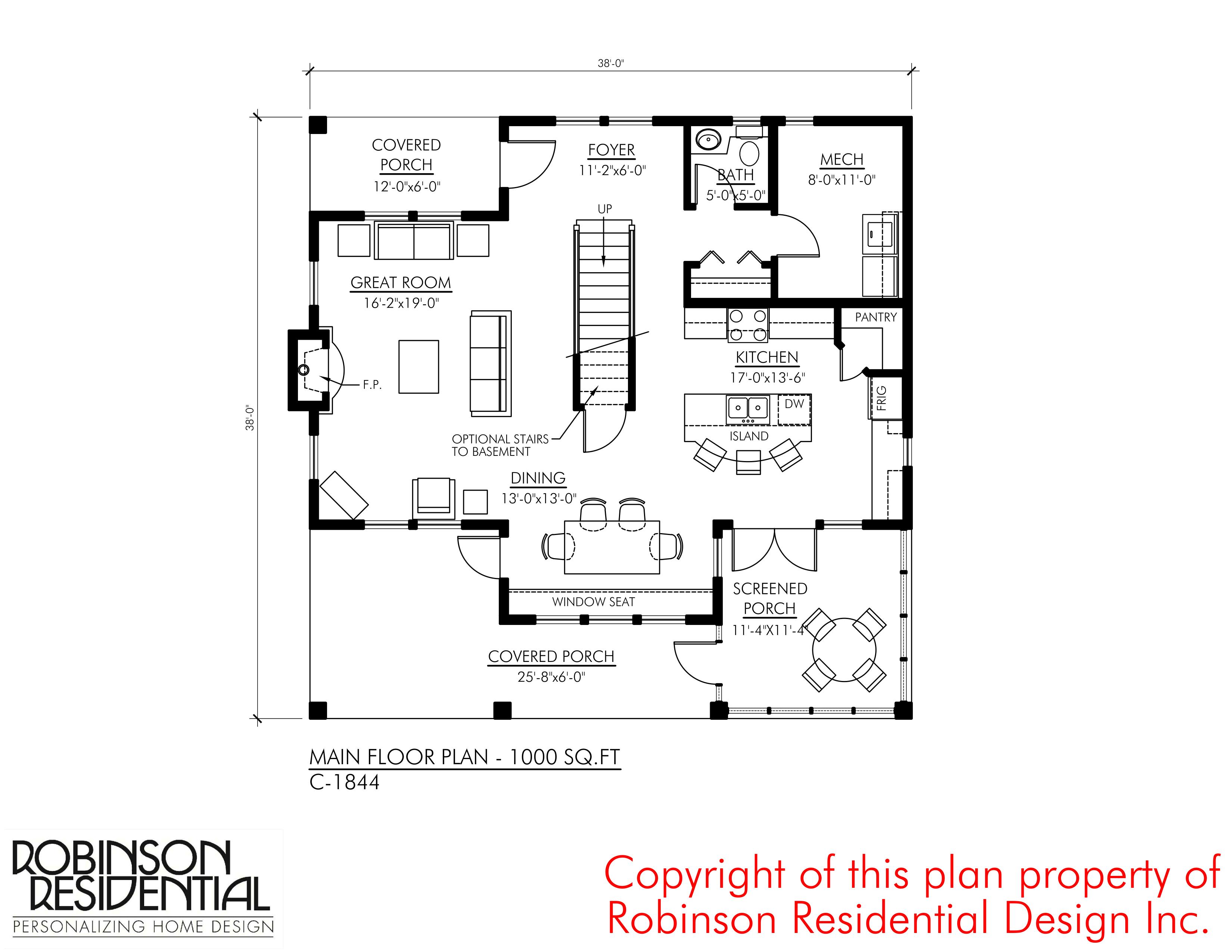 Craftsman C 1844 Robinson Plans