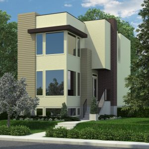 CONTEMPORARY HOME PLANS - PORTNALL-1646 (WITH SUITE)