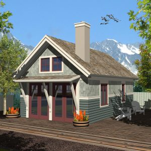 CRAFTSMAN HOME PLANS - GUEST HOUSE