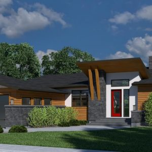 CONTEMPORARY HOME PLANS - MONARCH-1250G