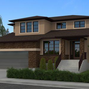 CONTEMPORARY HOME PLANS - SANDFORD-2030