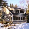 CRAFTSMAN HOME PLANS - H-1420 - ONTARIO - FRONT & SIDE