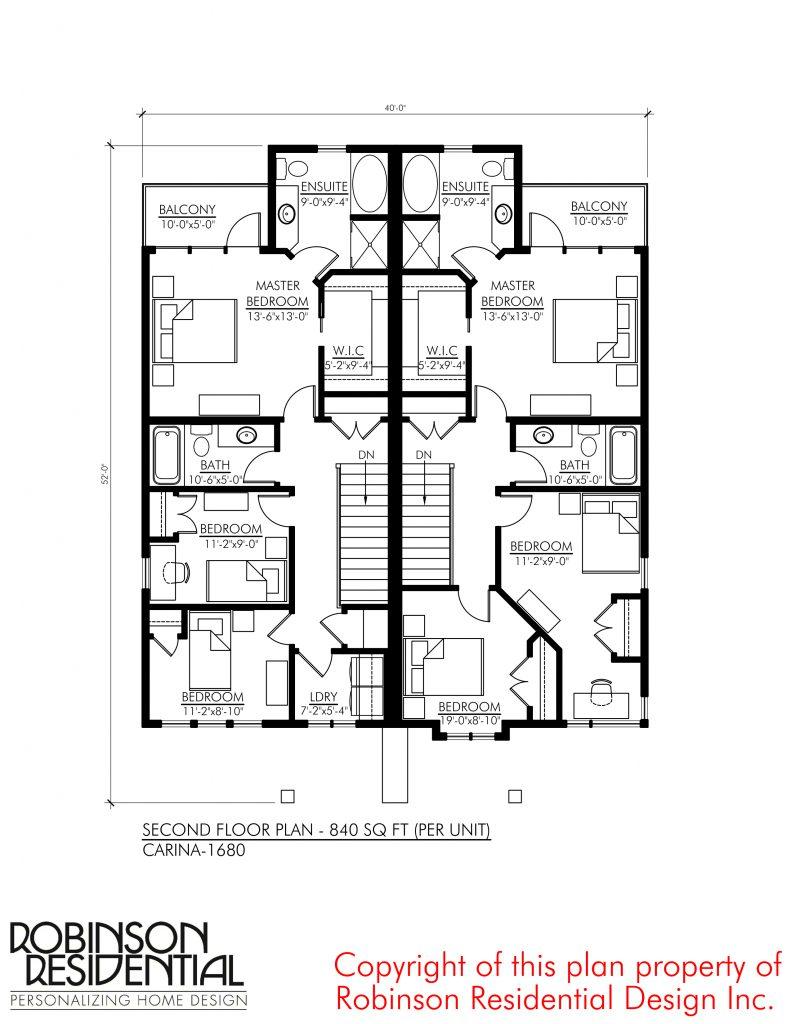 Contemporary Carina 1680 Robinson Plans