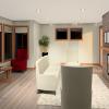PRAIRIE HOME PLANS - LOWRY-3512 - FRONT ROOM 3D RENDERING
