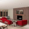 PRAIRIE HOME PLANS - LOWRY-3512 - LIVING ROOM 3D RENDERING
