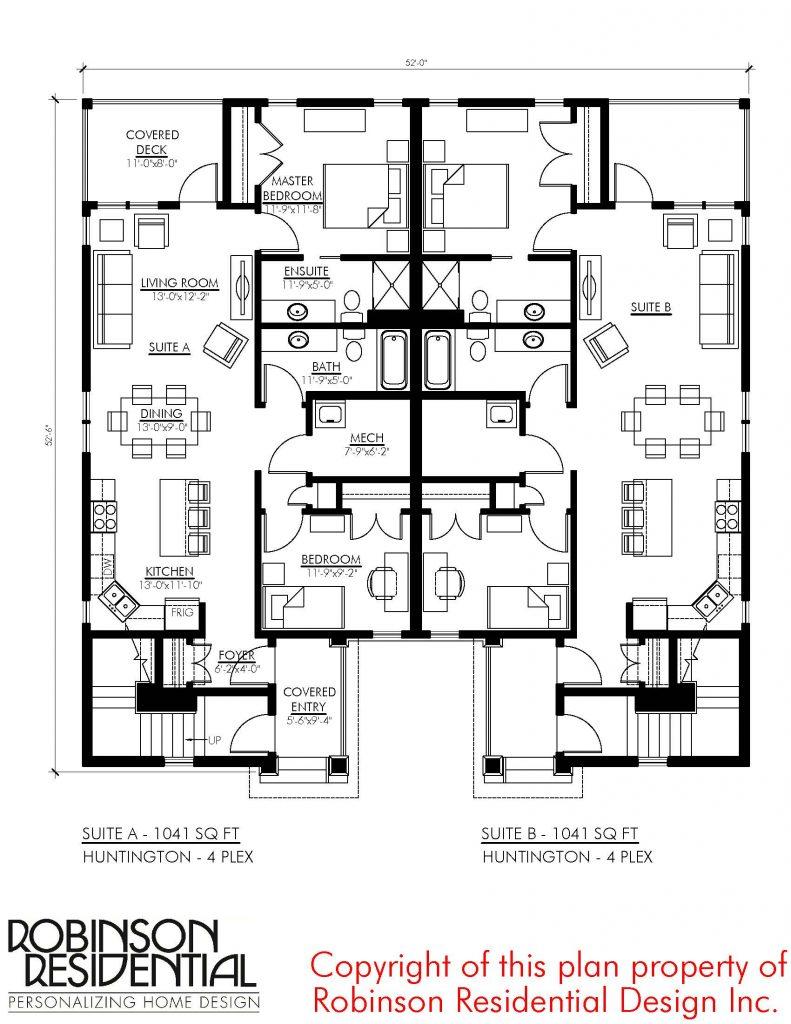 Craftsman Huntington-4-plex