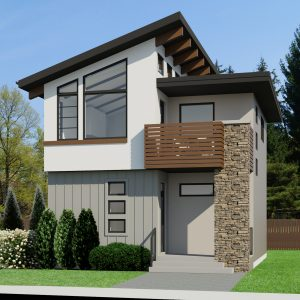SMALL HOME PLANS - CONTEMPORARY ASHLEY-754