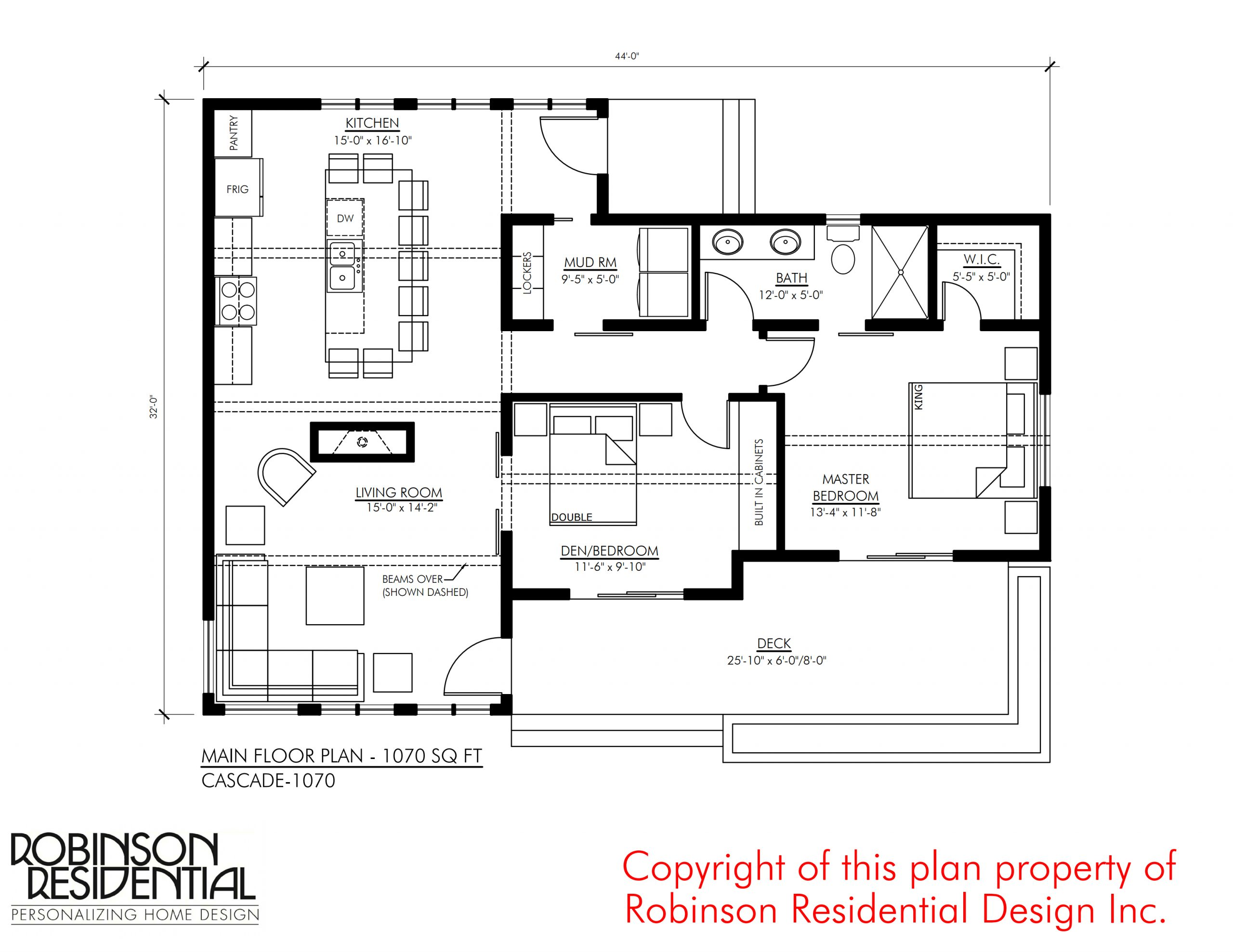 Contemporary Cascade 1070 Robinson Plans