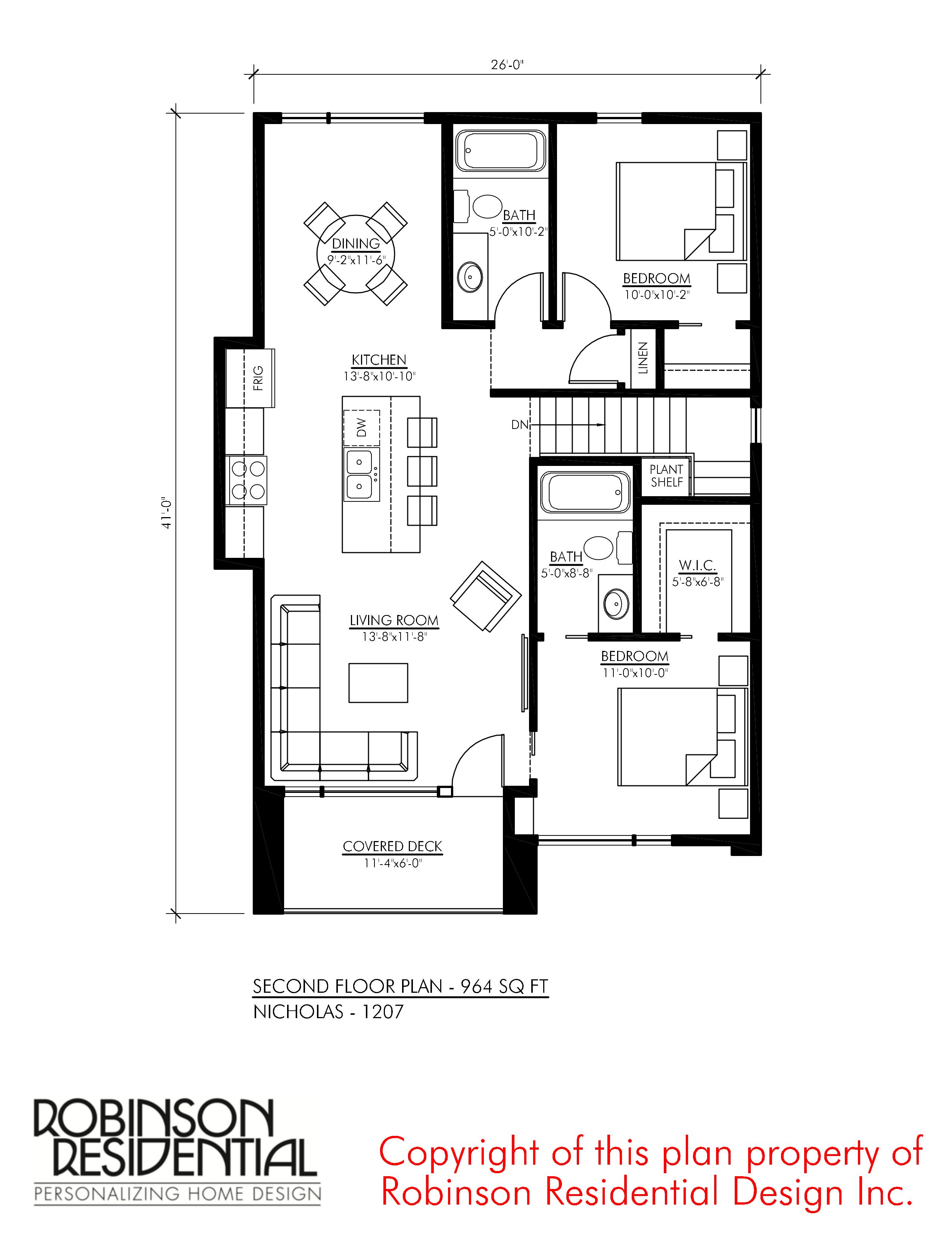 Contemporary Nicholas 1207 Robinson Plans