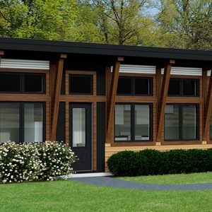 CONTEMPORARY HOME PLANS - CARIBOU-704