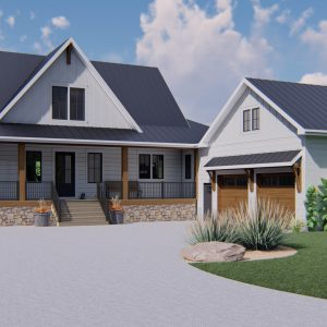 MODERN FARMHOUSE HOME PLANS - MARQUIS-2513_FRONT