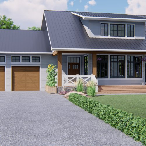 MODERN FARMHOUSE PLANS - CYPRESS-2024 - FRONT VIEW