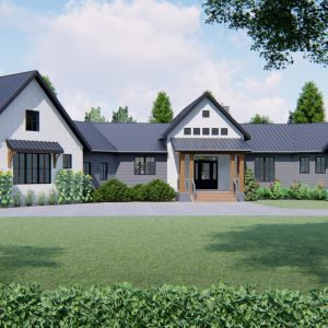 MODERN FARMHOUSE PLANS - PRESTON-2687_FRONT VIEW