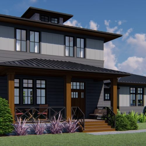 MODERN FARMHOUSE HOME PLANS - SPRINGFIELD-2327 _Front View