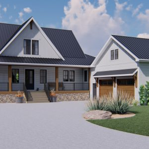 MODERN FARMHOUSE HOME PLANS - MARQUIS-2550 - EXTERIOR FRONT